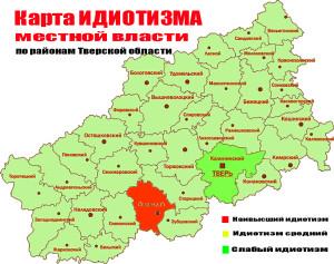 карта идиотизма 1708