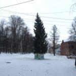 В Осташкове поставили кривую елку